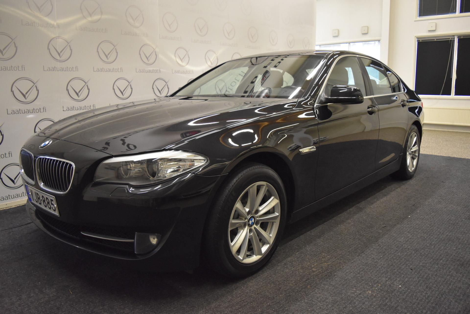BMW 520 TwinPower Turbo A F10 Sedan - Korko 1, 89%,  Rahoitus jopa ilman käsirahaa! Cruise,  Bluetooth Puhelut+Audio,  Koukku!