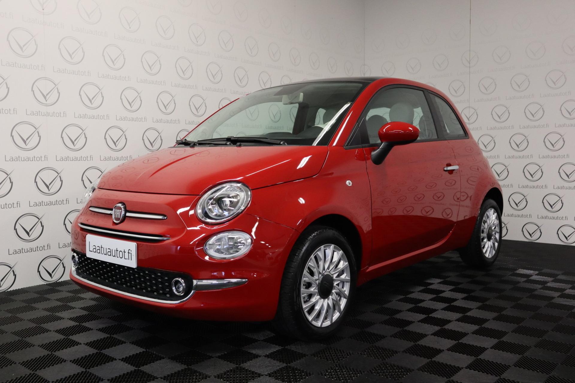 FIAT 500 1, 0 70hv Hybrid MT Lounge - Korko 0, 90%,  rahoitus jopa ilman käsirahaa! Uusi auto nopeaan toimitukseen!