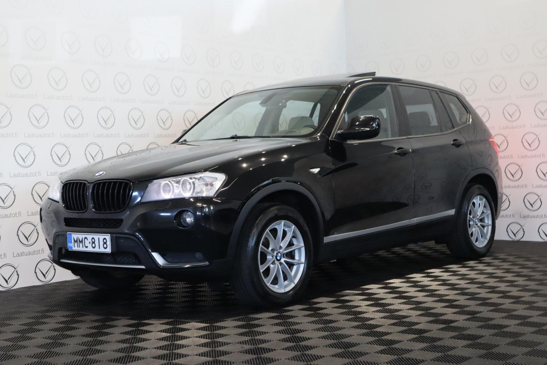 BMW X3 xDrive 30d A F25 - Rahoitus 1.89% jopa ilman käsirahaa! Panorama / Navigointi /   HUD / Peruutuskamera / Nahkasisusta!