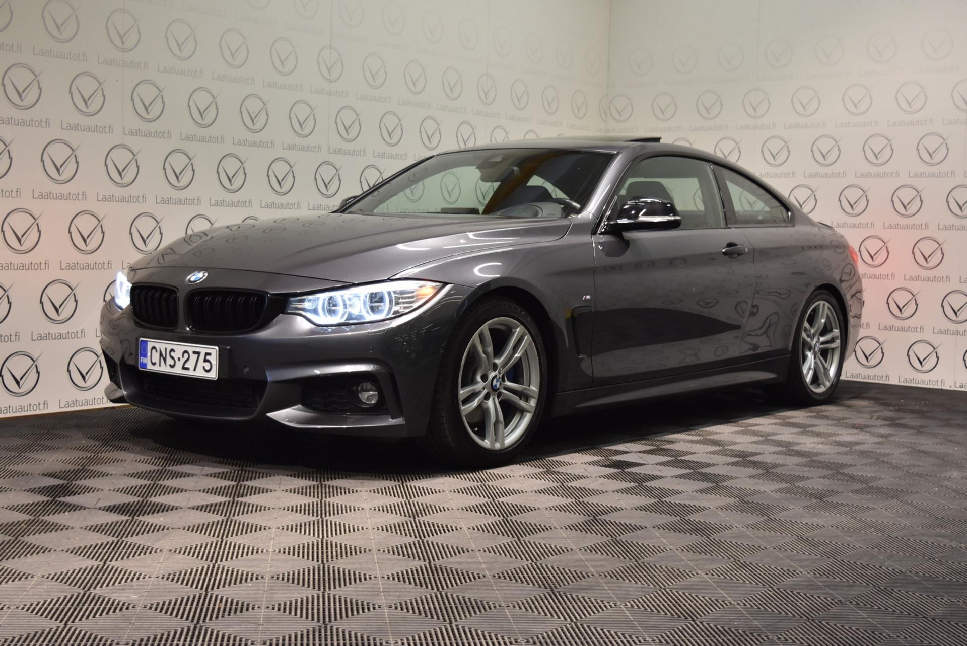 BMW 435 F32 Coupe TwinPower Turbo A xDrive M-Sport - Korko 1, 89%,  Rahoitus jopa ilman käsirahaa! Huippuvarusteet! Sporttinahat sähköllä,  SurroundView,  AdaptiveLed,  NaviPro,  HeadUp yms. !