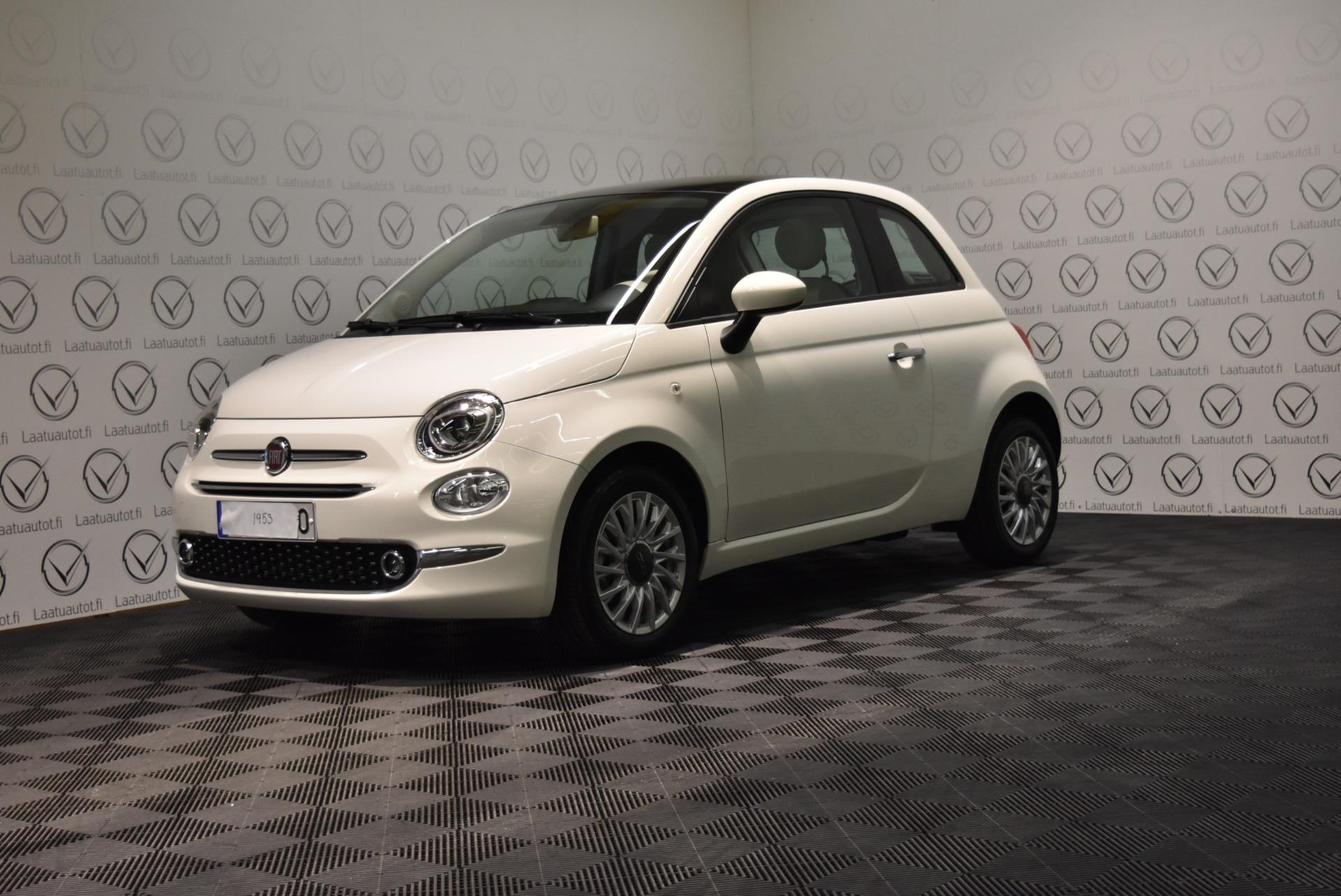 FIAT 500 1, 0 70hv Hybrid MT Lounge - Uusi Fiat 500 Hybrid nopeaan toimitukseen,  korkotarjous 1.89% + kulut,  jopa ilman käsirahaa!