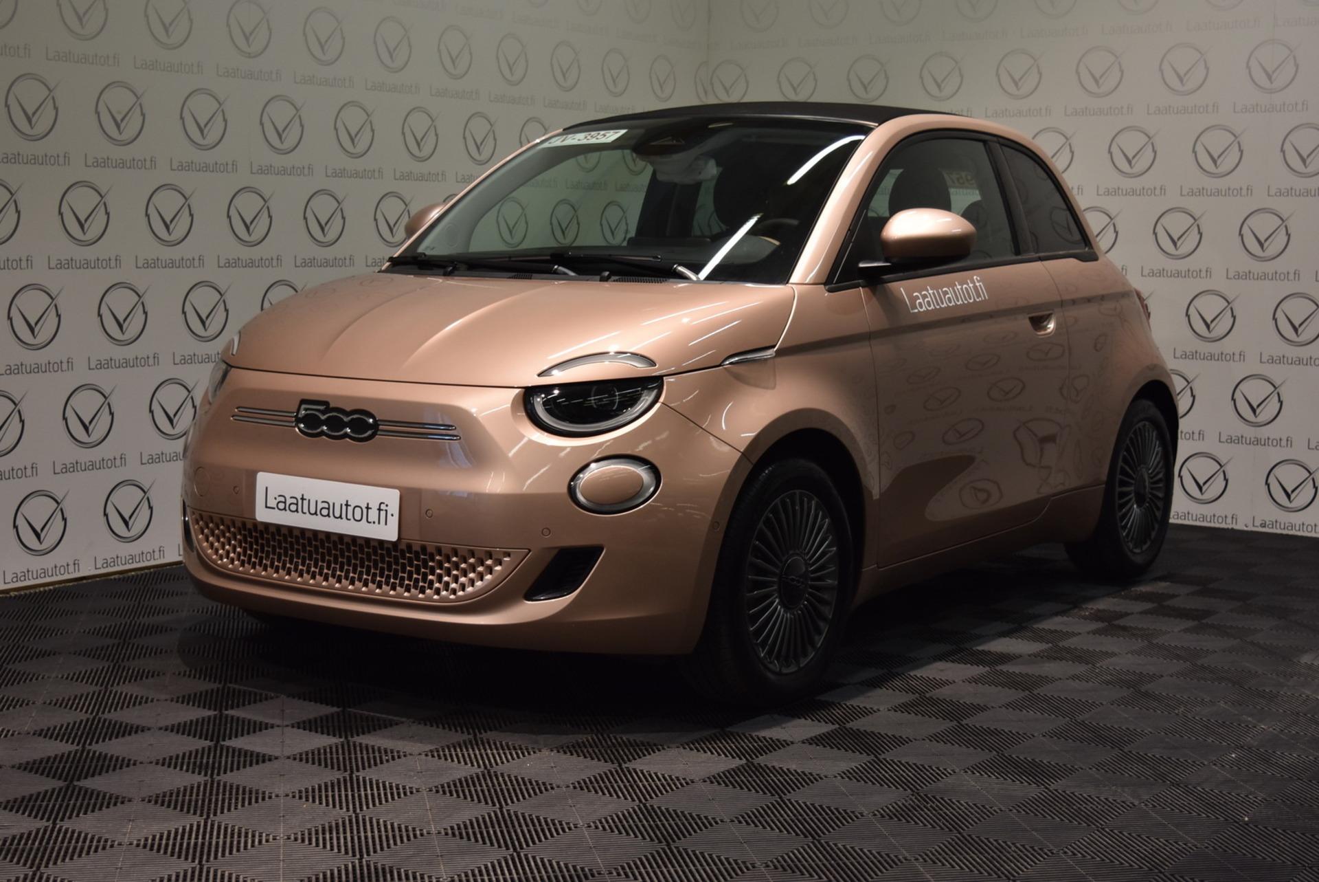 FIAT 500E Icon Cabrio  118hv 42kWh Launch Pack - Nyt meiltä uusi Fiat 500e täyssähköauto myynnissä ja koeajettavissa!! Mallisto alkaen 31.990? + toimituskulut 600?. Korko: 1, 89% + kulut! Jopa ilman käsirahaa!
