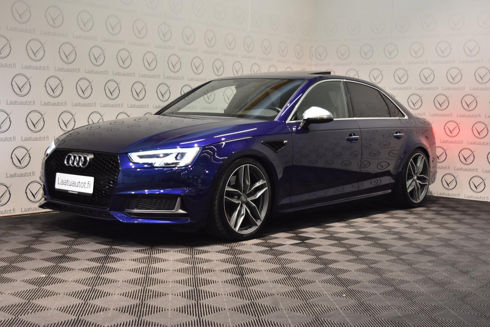 AUDI S4 Sedan 3, 0 TFSI 260 kW quattro tiptronic - Korko: 1, 89% + kulut! Jopa ilman käsirahaa! Bang&Olufsen,  Hierovat Sähköpenkit,  Keyless,  Lasikattoluukku!