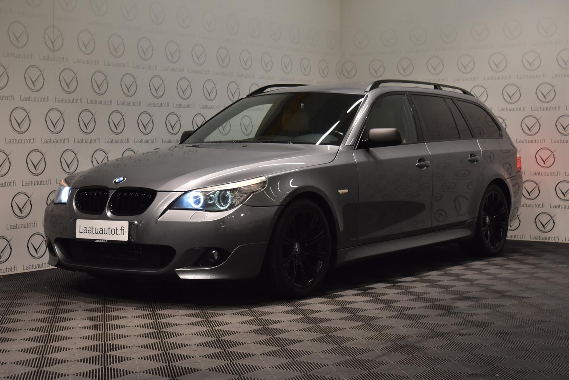 BMW 523 E61 Touring M-Sport - Korko: 1, 89% + kulut! Jopa ilman käsirahaa! Nahat,  Xenon-ajovalot,  Urheiluistuimet,  PDC!